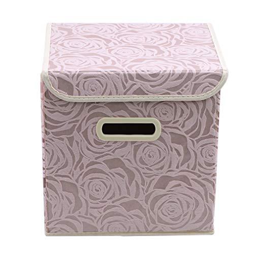 Yeucan Desktop Aufbewahrungsbox Faltbare Spielzeuge Organizer Box Bin Wäscheschrank Organizer, Pink