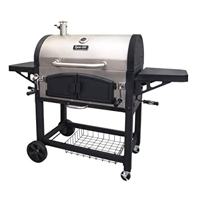 Dyna-Glo DGN576SNC-D Dual Zone Premium Charcoal Grill, X-Large, Stainless