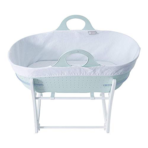 Tommee Tippee Sleepee Baby Moses Basket and Rocking Stand Green