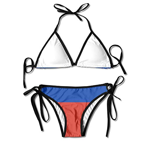 Damen Bikini Set Flagge von Russland Sommer Zweiteiligen Badeanzug mit Bandage Halfter Badeanzüge