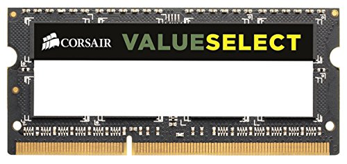 Corsair Value Select SODIMM 4GB (1x4GB) DDR3 1333MHz C9 Memoria per Laptop/Notebook , Nero