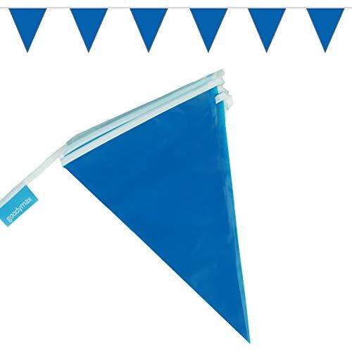 goodymax® Wimpelkette 10 m Blau - viele weitere Farben & Farbkombinationen zur Auswahl