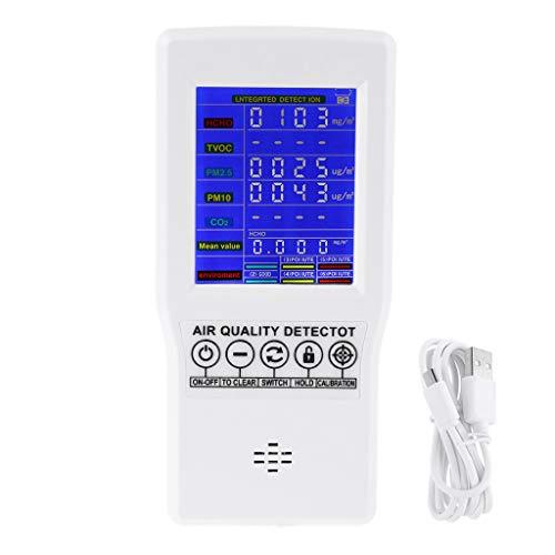 Haijun Luftqualitätsprüfer Analyzer Detektor Ozonmesser und Schnellfühl-Tester Multi- Gasmonitor TVOX Laser PM2.5 AQI Index Tragbarer Ozondetektor