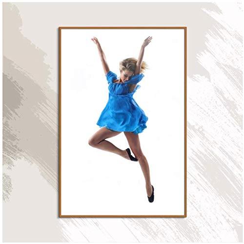 Figura danza postura figura pintura lienzo moderno impresión impermeable decoración del hogar -50x70cmx1Sin marco