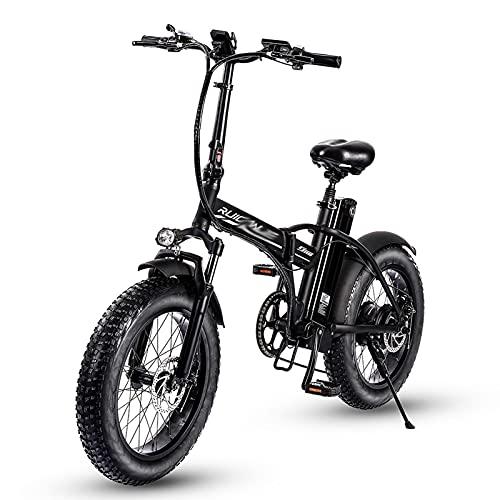 R8 800W Adultos Plegable Bicicleta Electrica 48V13Ah 4.0 gordo Neumático montaña Bicicleta eléctrica Equipo 7 Velocidad Engranajes Impermeable Eléctrico Bicicleta con LCD Monitor por playa Nieve Ciuda