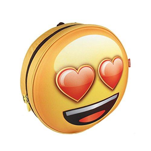 Emoji 2100002074 Liefde 3D Effect Rugzak, Geel (Amarillo), 28 Centimeters