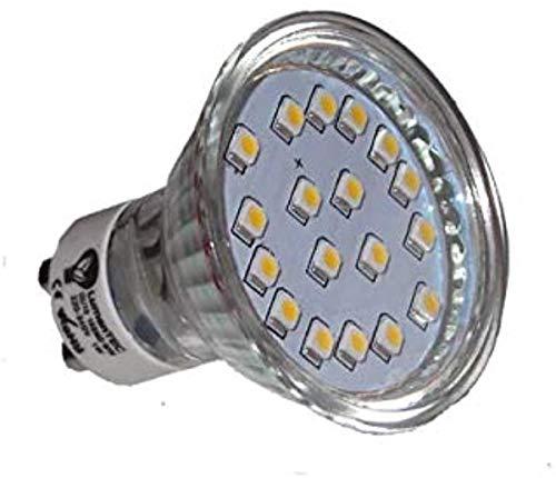 LED GU10, GU10 led Warmweiss, GU10 18 SMD 3528 LED Lampe Leuchte Strahler GU10 1W 18 SMD (3528) LEDs 230V Warmweiß 80 Lumen, LumenTEC (1er Warmweiss)