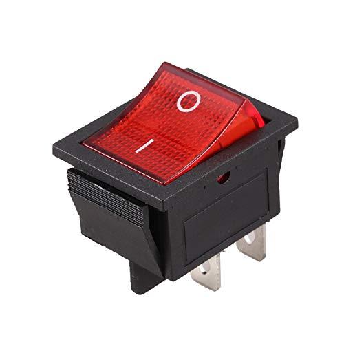 Heyb - Interruptor de encendido y apagado (4 pines, 16 A, 20 A, 250 V)