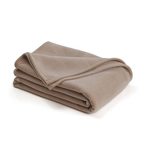 The Original Vellux Blanket - King, Soft, Warm, Insulated, Pet-Friendly, Home Bed & Sofa - Tan