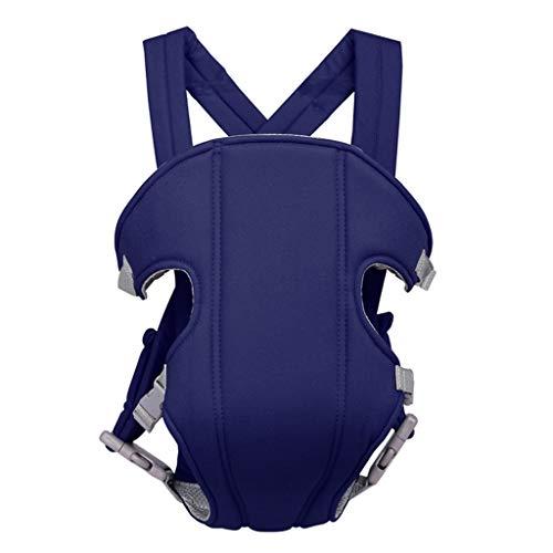 Guoyy - Mochila portabebé para recién nacido, con correas suaves ajustables, multifunción con 4 posiciones azul oscuro