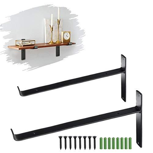 DyNamic 20/25 / 30Cm Rustikale Wandregalhalterungen Industrielle Hochleistungswinkelhalterungen Regalhalterung - 20 cm
