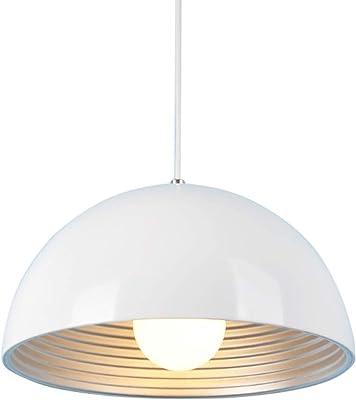 SISVIV Lampada a Sospensione Moderna Bianco Lampadario Vintage Industriale in Metallo per Cucina Sala da Pranzo Ristorante E27