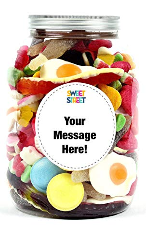 Sweet Treat Personalised Gift Jar bursting with classic pick n' mix sweets.