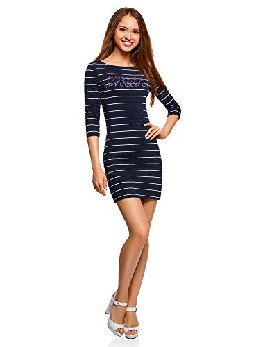 oodji Ultra Mujer Vestido de Punto con Estampado