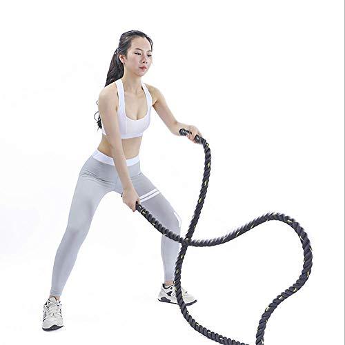 Yajun Cuerda De Batalla Battle Rope Pesado Ponderada Jump Rope Entrenamiento De Potencia Mejorar La Fuerza Fitness Equipo De Gimnasio En Casa