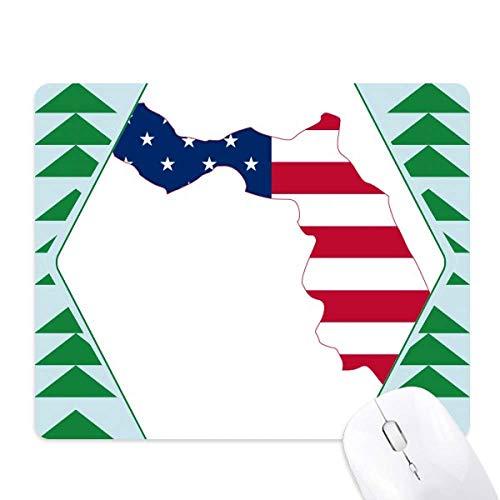 Florida USA kaart sterren strepen vlag vorm muis pad groene dennenboom rubberen mat