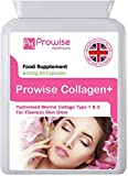 Pure Marine Collagen Capsules 60 x 600mg - Hydrolysed Type 1 & Type 2 Collagen - High Strength Skin Care & Joint Health Supplement - UK Made premium quality from PROWISE HEALTHCARE