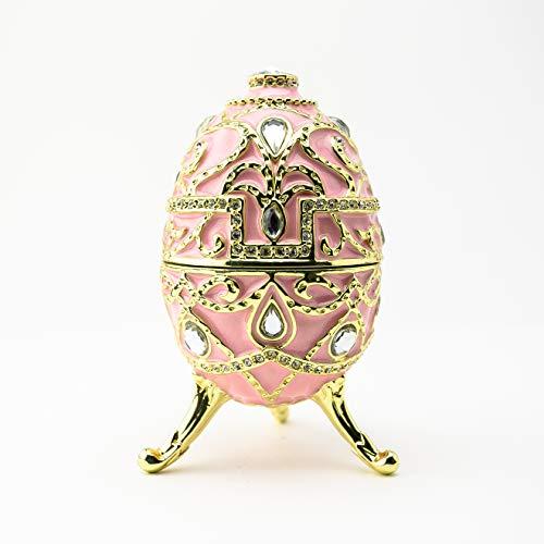 Keren Kopal sedia vintage portagioie Faberge stile decorato con cristalli Swarovski Unique Home Decor