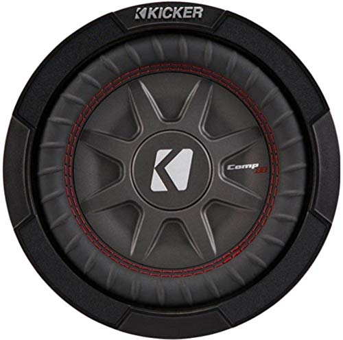 Kicker 8 Inch Dual 600 Watt CompRT 2 Ohm Shallow Slim Car Subwoofer | 43CWRT82