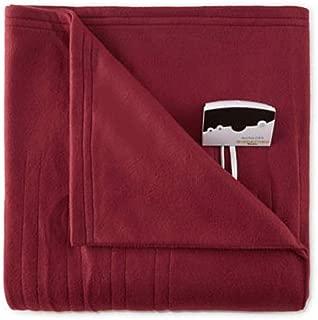 Biddeford 1000-9052106-302 Comfort Knit Fleece Electric Heated Blanket Twin Red
