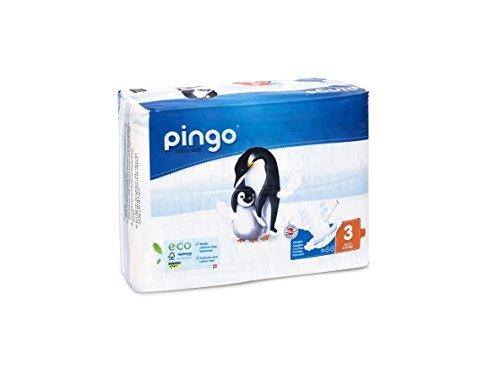 Pañales Pingo ecológicos Talla 3 Midi, 2 paquetes de 44 unidades