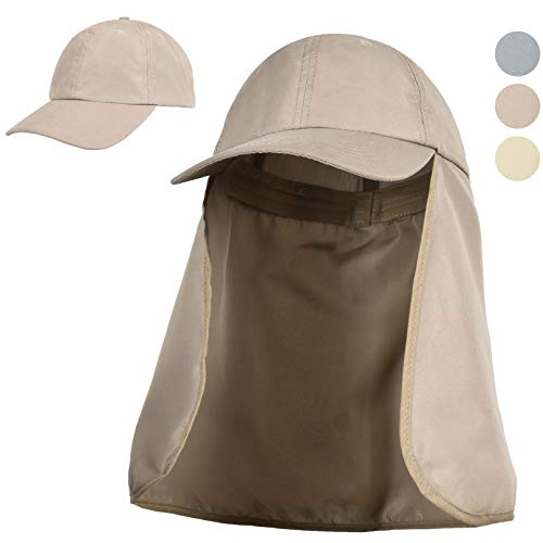 Outdoors UPF 50+ UV Sun Protection Fishing Hat with Neck Flap Backpacking...