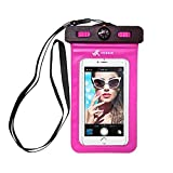 Voxkin Premium Quality Universal Waterproof Case with Armband, Compass, Lanyard - Best Water Proof, Dustproof Bag for iPhone 12 Pro Max, 12 Mini, XR, SE, S21 Ultra, S20, OnePlus 8, 8 Pro, Pixel 5