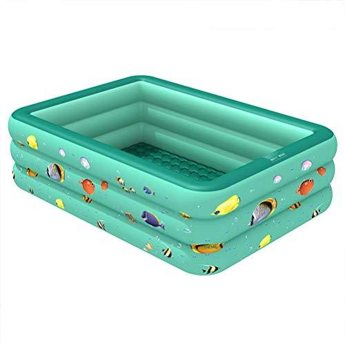 DFSDG 1,3 m/1,5 m/1,8 m/2,1 m, piscina hinchable cuadrada para niños y adultos, tamaño grande, para el hogar, al aire libre, interior (tamaño: 1,5 m)