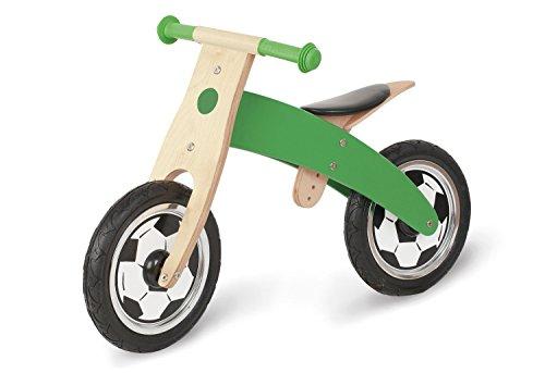 Pinolino Laufrad Jogi, mit Fussballsiebdruck, unplattbare Bereifung, umbaubar vom Chopper zum Laufrad, empfohlen ab 2 Jahren, grün