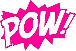 All About Families Marvel POW ~ Neon Pink ~ Window Sticker/CAR/Truck/RV/Boat with Alcohol PAD~ Size 5