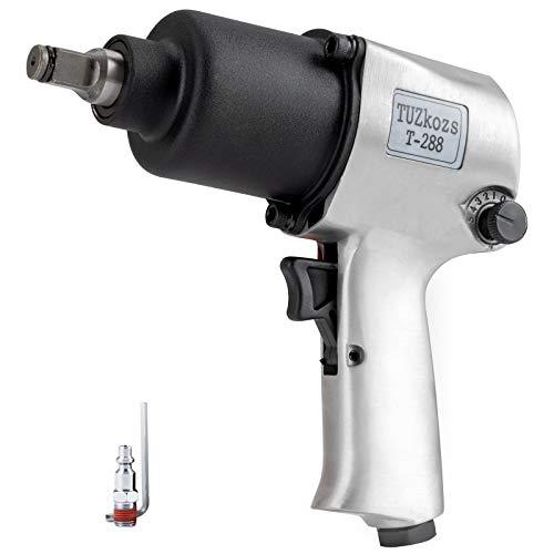 1/2-Inch Drive Air Impact Wrench,5-Speed Pneumatic Heavy Duty Twin Hammer Impact Gun,Half-inch pneumatic impact wrench