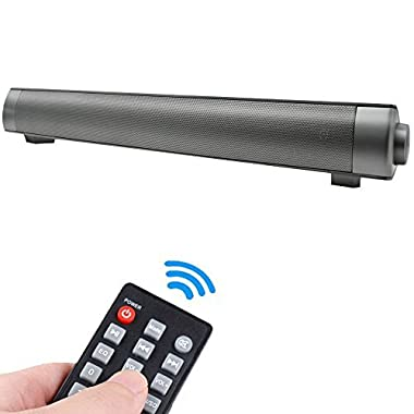 Bluetooth Speakers Soundbar Wired and Wireless Speaker Audio Stereo Long-standby Multifunctional Strong Bass Home Theater Speaker for Smartphones /PC/Tablets/TV/Projector and Bluetooth Devices