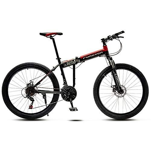 26 Zoll Mountainbike,Klapp Fahrrad Erwachsene Bike Herren,Geschwindigkeit Trekkingrad Vollfederung Cityräder Herren DaHerren B-21 Geschwindigkeit 26in