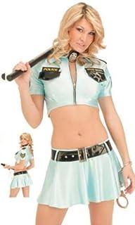 Womens Frisky Officer Suspender Roleplay Costume Lingerie