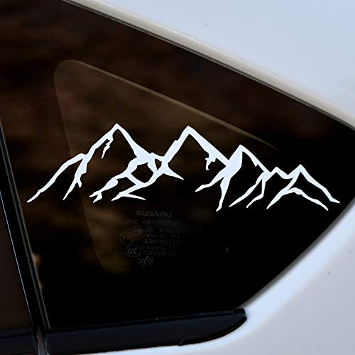White Mountain Sticker - Vinyl Die Cut Window Decal for Car/Truck/Laptop