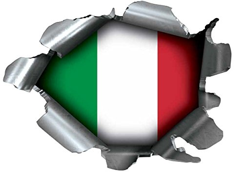 Speed Demons Pride Burst Rip abziehbarer reißfester Aufkleber, selbstklebend, für jede Oberfläche, auch Laptops und Autos - Italienische Flagge