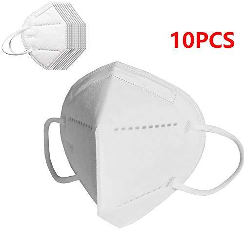 10 PCS N95 Mask,  Mascaras, FFP2 filtrando 95% partículas,  máscaras antipolvo transpirable KN95