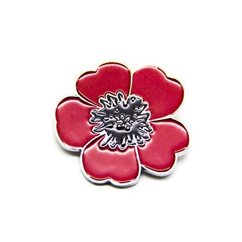 Tien Elke Strass Rode Poppy Broches voor Vrouwen Jas Lapel Sjaal Sjaal Pin Badges Herinnering Gift Crystal Bloemen Poppy Broches voor Hero Soldaat Herdenking Dag Geschenken Broach pin Geschenken