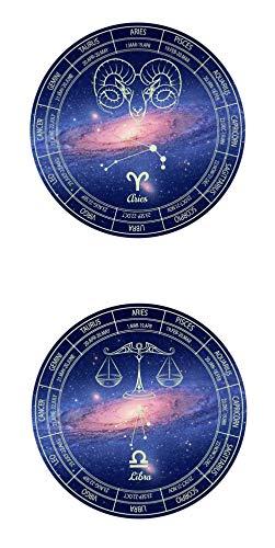 Leuchtende Wandaufkleber-Nacht fluoreszierende Paar Konstellation Kombination Dekoration Aufkleber-Widder und Waage