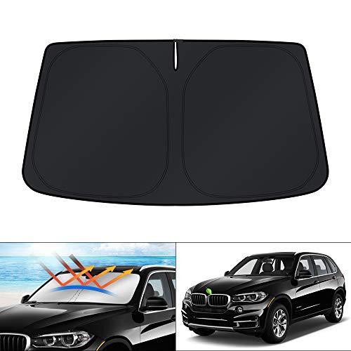 KUST Parabrisas Sun Shade Blocks UV Protector de visera parasol plegable para BMW X5 SUV 2014 2015 2016 2017 2018...