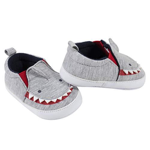 Gerber Baby Crib Shoes Newborn Infant Neutral Boys Girls 0-9 Months, Grey Shark, 3 6 Unisex