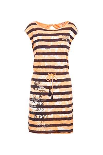 SOCCX Damen Streifenkleid mit Farbeffekten