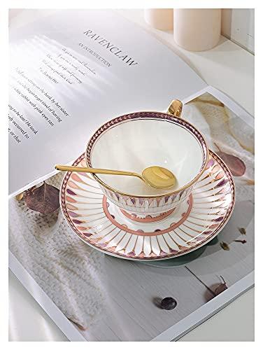 SHUWB Tazas de cerámica Conjunto de Taza y platillo de café, platillos de vajilla de Taza de café pequeño. Conjunto de casa (Color : 03)