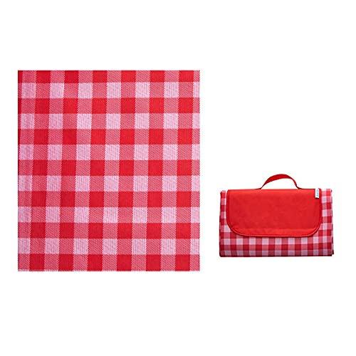 Verdickter Picknickmatte, tragbarer Frühlingsausflug Picknickmatte, wasserdicht im Freien, faltende Oxford Tuch Gitter feuchtigkeitsdichte Matte, sandweise und wasserdichte tragbare Strandmatte, geeig