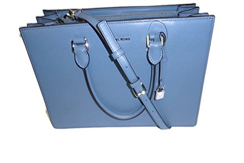 """Double handle and single strap Silver tone hardware Approx. 13"""" wide. 9.5"""" height."""