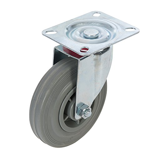 FIXMAN 563351 - Rueda giratoria de Goma (125 mm, 100 kg)