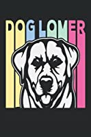 dog lover-Ruled Notebook/Journal - Lined Journal: Composition Notebook: College Ruled Lined Paper 120 Pages - 6 x 9in