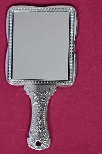 Tuin Van Kunsten Zilver Handheld Salon Kappers Kappers Vierkante Vorm Spiegel met Grip Handvat
