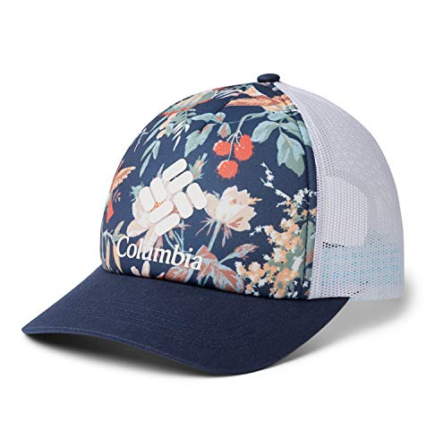 Columbia W II Mesh Gorra para Mujer, Azul/Blanco (Nocturnal Floral, Nocturnal, White, Logo), One Size (Adjustable)