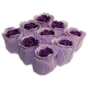 Roses de bain – 9 Roses dans boîte cadeau (Lavande). Parfum lavande, Couleur Lavande. Contient 9 roses de bain dans une boîte cadeau, fini avec un ruban. Un cadeau parfait – Idéal pour les anniversaires, Noël, etc.